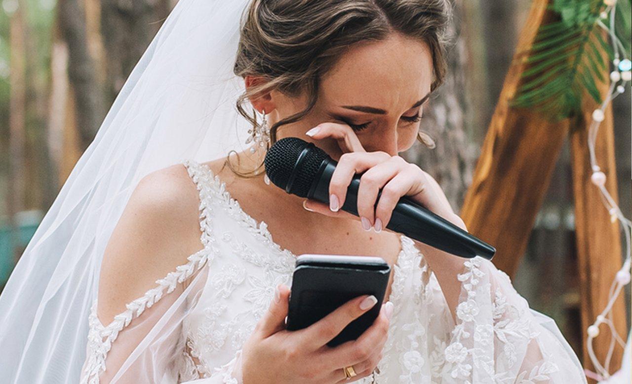 Zamiast przysięgi panna młoda przeczytała gościom SMS-y niedoszłego męża do... jego kochanki!