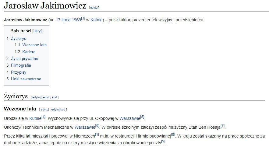 Jarosław Jakimowicz, wikipedia
