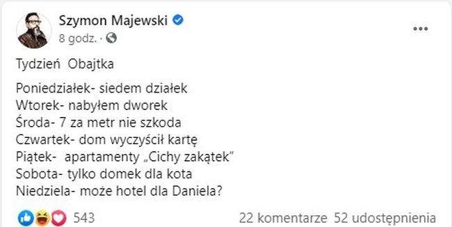Szymon Majewski o Danielu Obajtku