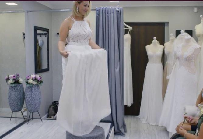 Izabela ze Ślubu od pierwszego wejrzenia w sukni ślubnej