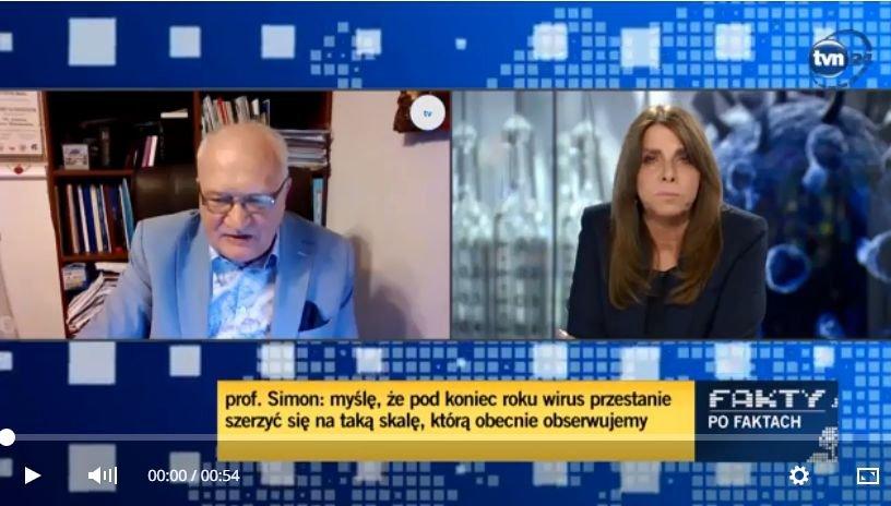 Profesor Simon w TVN24