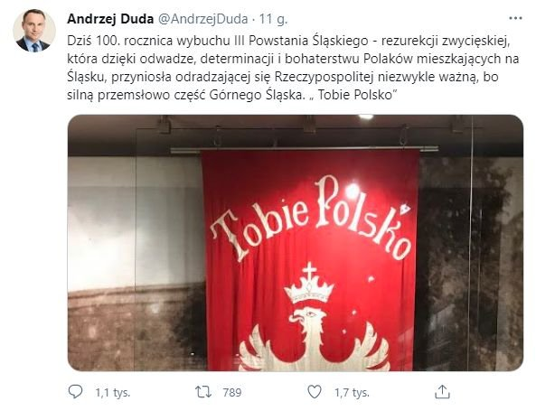 Andrzej Duda, twitter
