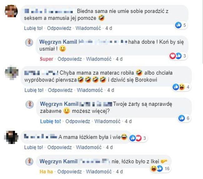 Kamil Węgrzyn, komentarz