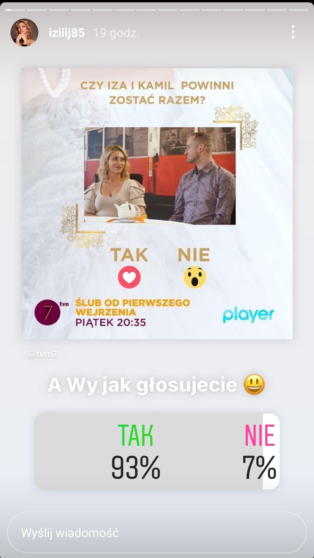 Iza Juszczak, Ślub od pierwszego wejrzenia