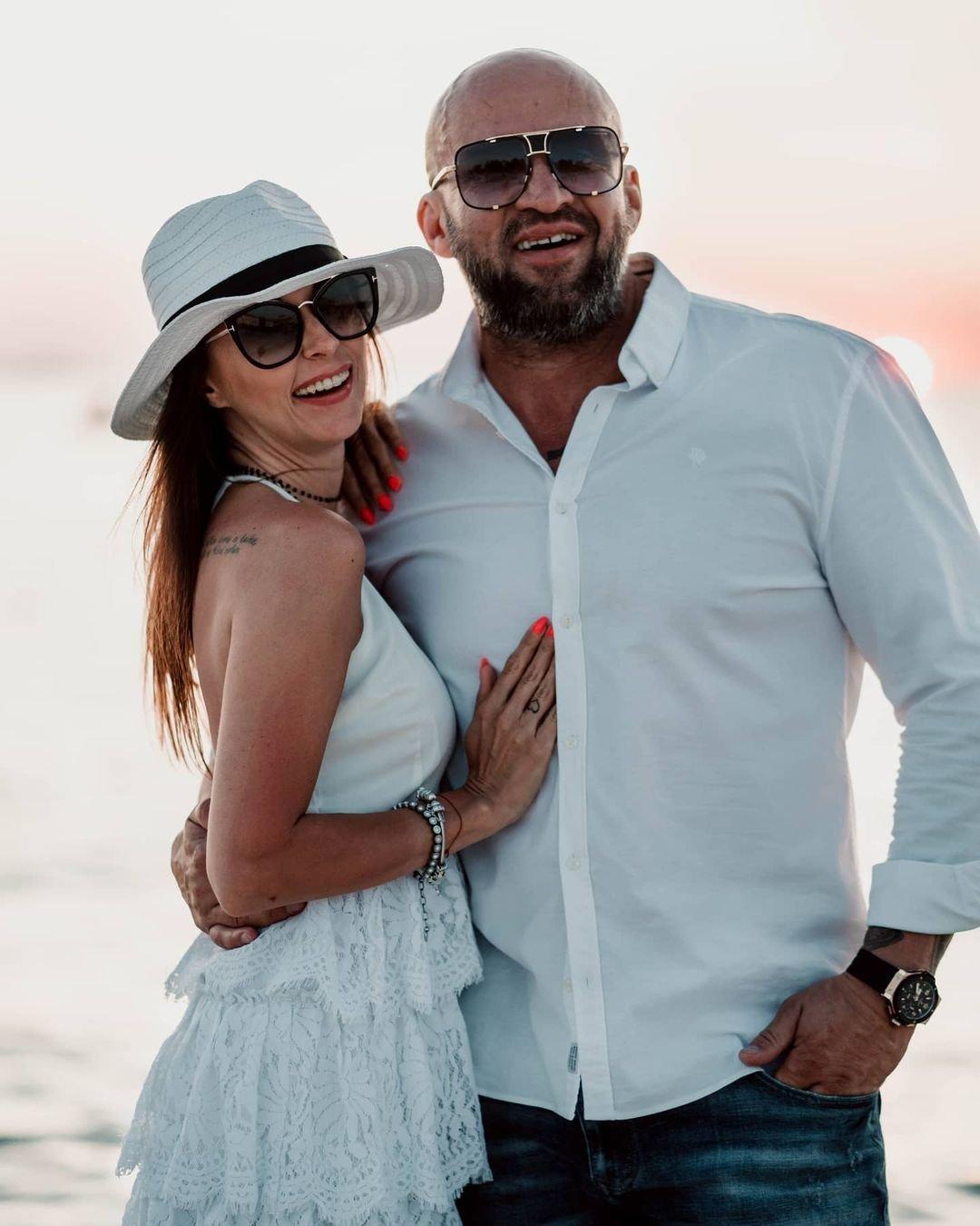 Tomasz Oświeciński z żoną