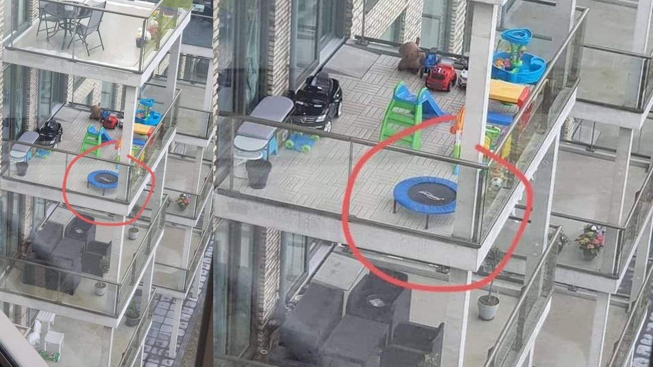 Trampolina na balkonie