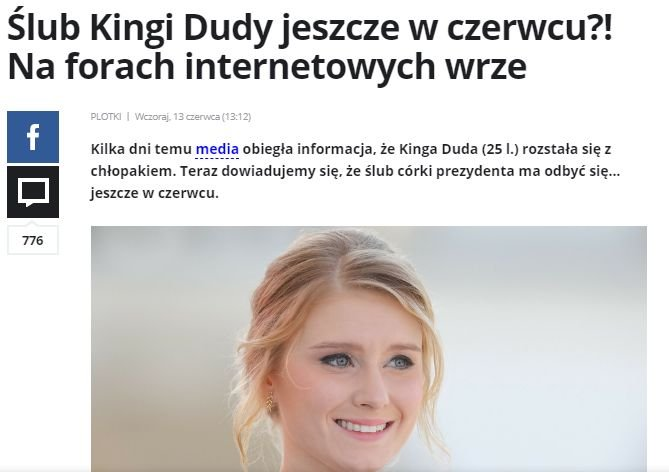 Kinga Duda, ślub