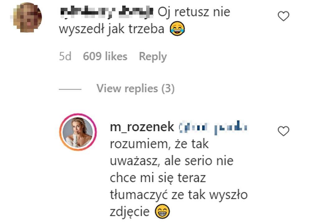 Małgorzata Rozenek, Instagram