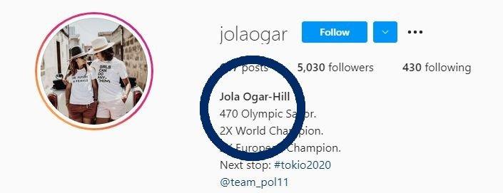Jolanta Ogar-Hill na Instagramie