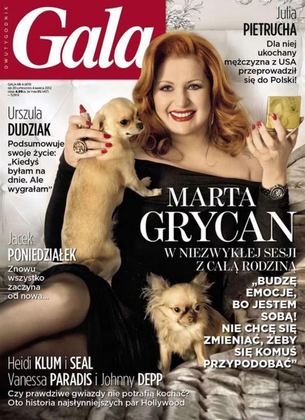 Marta Grycan, gala