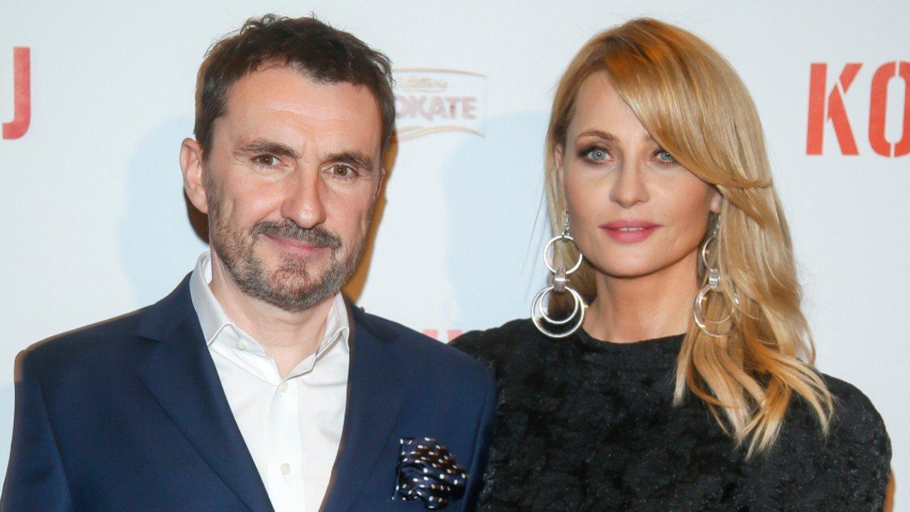 Aneta Kręglicka z czarnej sukience i jej mąż, Maciej Żak