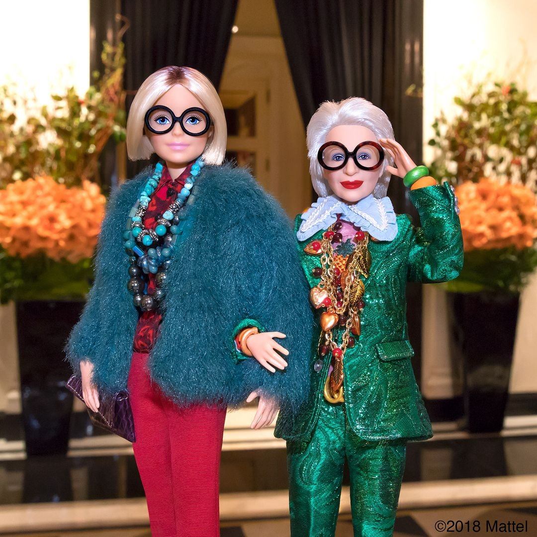 Lalki Barbie Iris Apfel