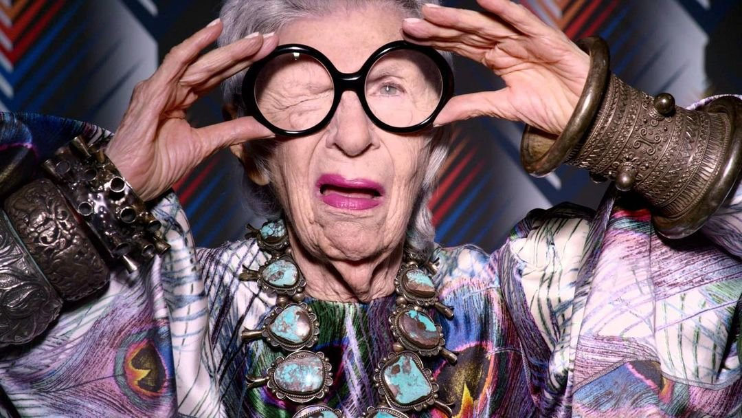 Iris Apfel wielkie okulary