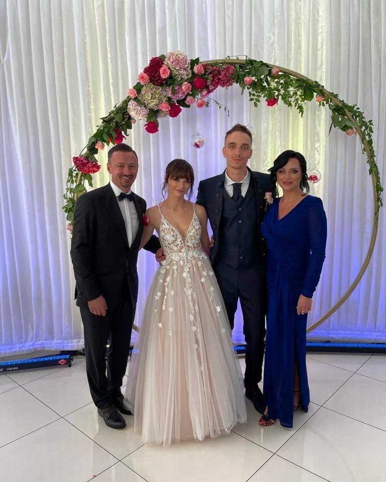 Iza i Adam Małysz bawili się na ślubie córki