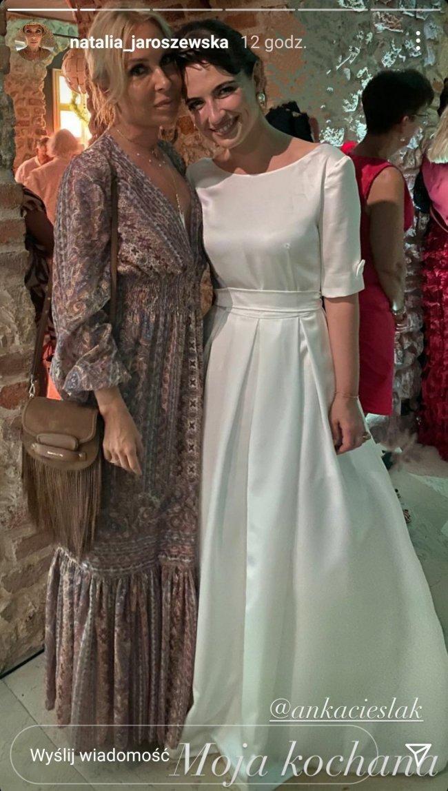 Anna Cieślak w sukni ślubnej