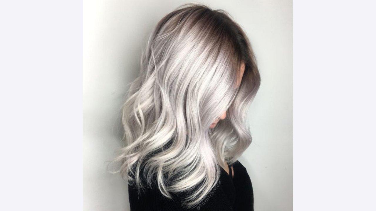 popielaty blond ombre