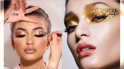 Makijaż wieczorowy w odcieniach złota - idealny na imprezę! Jak go wykonać?