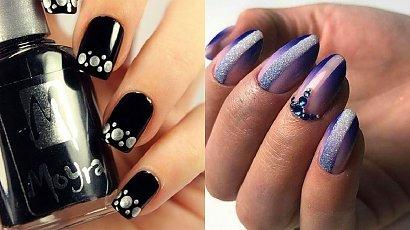 Ciemne paznokcie - 22 pomysły na ciemny manicure. Trendy 2020 - GALERIA