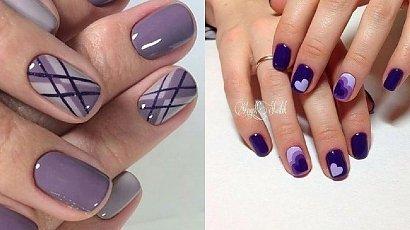 Fioletowy manicure - hitowe propozycje na sezon 2020 [GALERIA]