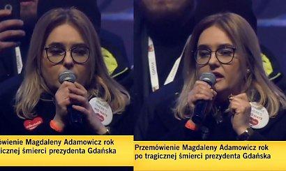 Magdalena Adamowicz na finale WOŚP w Gdańsku. Jej słowa wyciskają łzy