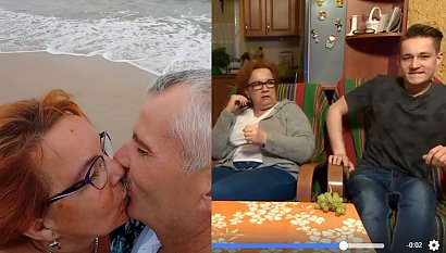 """Izabela Zeiske z """"Gogglebox"""" pokazała męża! Pozuje w kostiumie kąpielowym w czułych uściskach"""