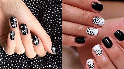 Czarno biały manicure - 31 propozycji na manicure w opcji black & white [GALERIA]