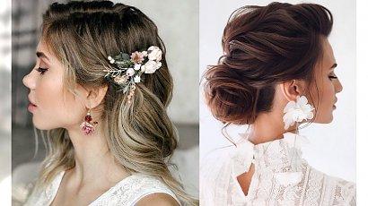Fryzury ślubne 2020 - galeria najpiękniejszych fryzjerskich trendów