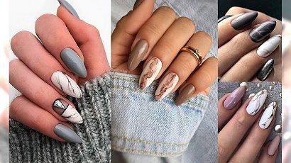 Marmurkowy manicure rządzi - 18 stylizacji w różnych wariantach kolorystycznych