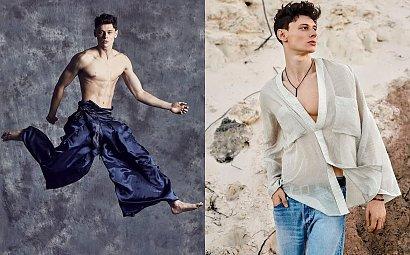 """Dawid Woskanian z programu """"Top Model"""" pochwalił się dziewczyną - to ona najbardziej go wspiera. Poznali się na Gadu Gadu"""