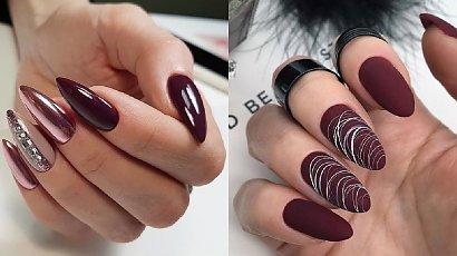 Bordowy manicure - 22 pomysły na bordowe paznokcie dla eleganckich kobiet