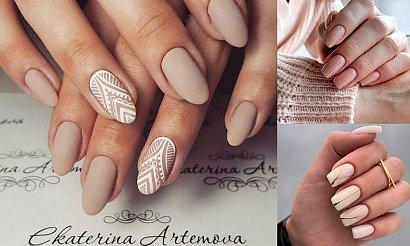 Nude manicure - galeria nowoczesnych i stylowych pomysłów z sieci