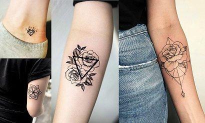 Geometryczne tatuaże - 15 pięknych wzorów dla dziewczyn