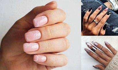 Najpiękniejsze zdobienia na wiosnę - marmurkowy manicure rządzi!