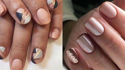Złoty manicure - 27 pomysłów na manicure z dodatkiem złota [GALERIA]