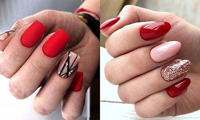 19 pomysłów na czerwony manicure - galeria stylowych zdobień