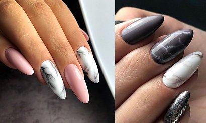 Marmurkowy manicure - 20 stylizacji w różnych wariantach kolorystycznych