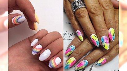 Kolorowy manicure na wiosnę i lato - 20 pomysłów na wyjątkowe paznokcie [GALERIA]