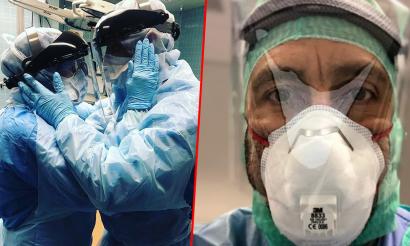 Tak wyglądają medycy, którzy walczą z koronawirusem. Serce pęka, gdy się na to patrzy