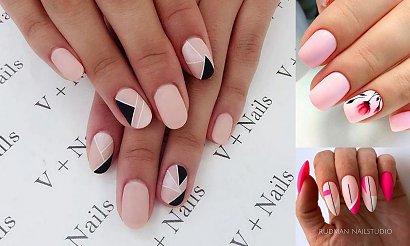 Różowy manicure hybrydowy - urocze i mega dziewczęce zdobienia