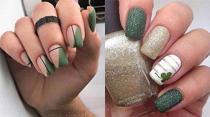 Zielone paznokcie -  26 pomysłów  na zielony manicure [GALERIA 2020]
