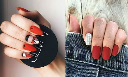 Czerwony manicure - 25 trendów na wiosnę i lato