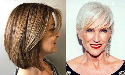 Modne krótkie fryzury dla 50-latki - internetowy katalog cięć
