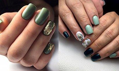 Zielony manicure - 30 stylowych propozycji