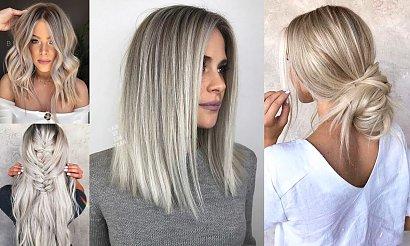 Popielaty blond w kilkunastu odcieniach - modne kolory włosów 2020