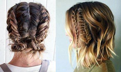 18 stylowych fryzur z warkoczem dla włosów krótkich i półkrótkich! [galeria]