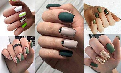 Zielony manicure - galeria stylowych propozycji