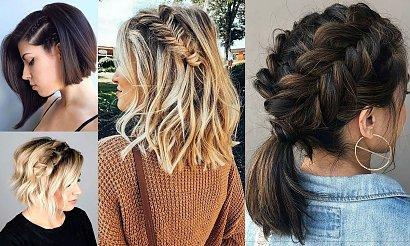16 modnych fryzur z warkoczem dla włosów krótkich i półkrótkich [GALERIA]