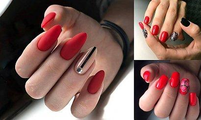 18 pomysłów na czerwony manicure - galeria ciekawych stylizacji