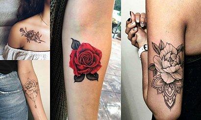 Tatuaż róża - 25 kobiecych i ciekawych wzorów
