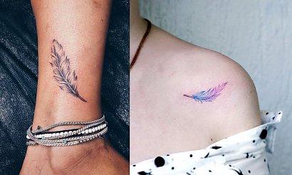 Tatuaż piórko - kilkanaście kobiecych propozycji